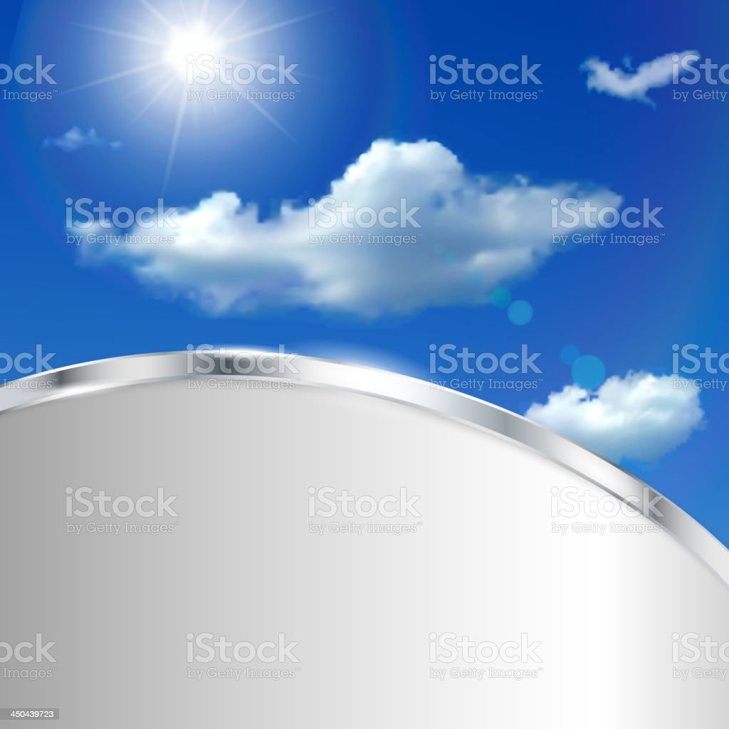 Abstract background with sky, sun and clouds royalty-free stock vector art