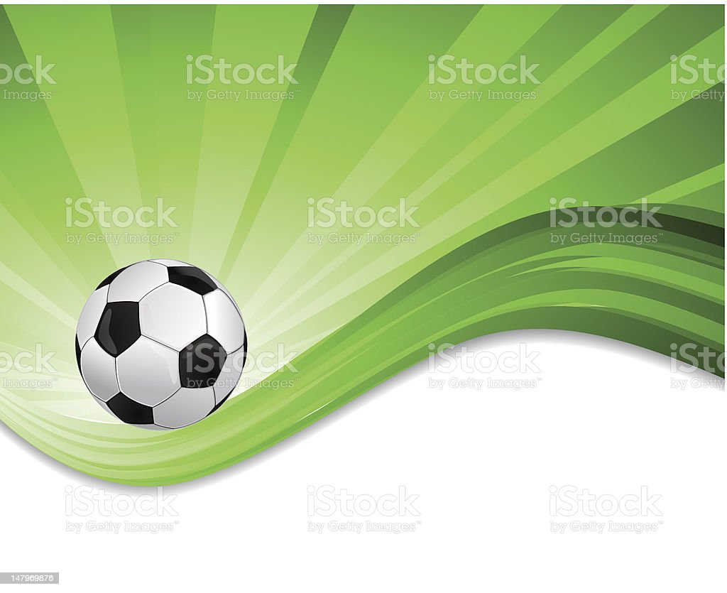 Abstract background with soccer ball royalty-free stock vector art