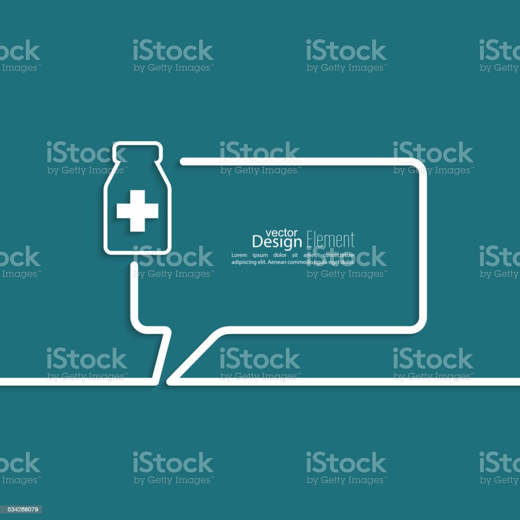 Abstract background with Speech Bubbles vector art illustration