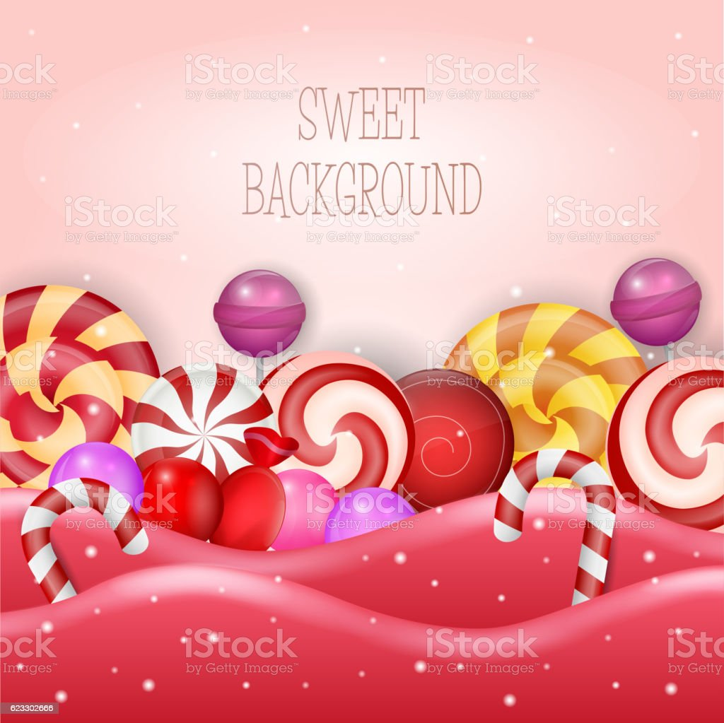 Abstract background with sweet candy vector art illustration