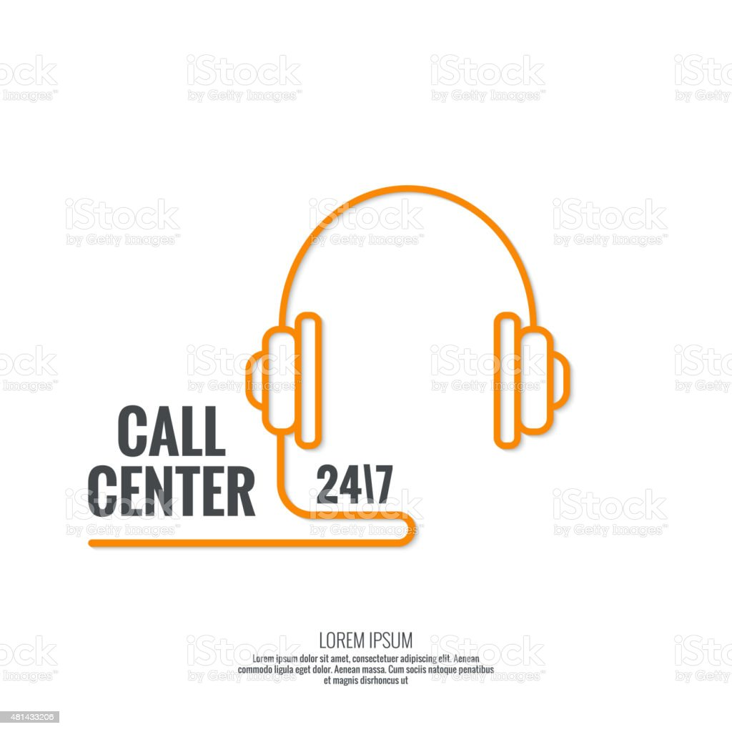 Abstract background with telephone and handset vector art illustration