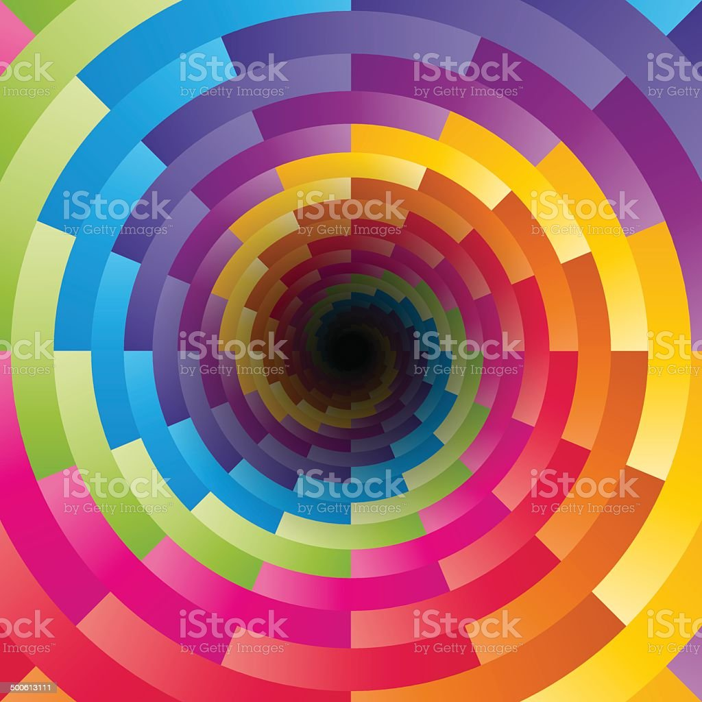 Abstract background with the motif of children's kaleidoscope vector art illustration