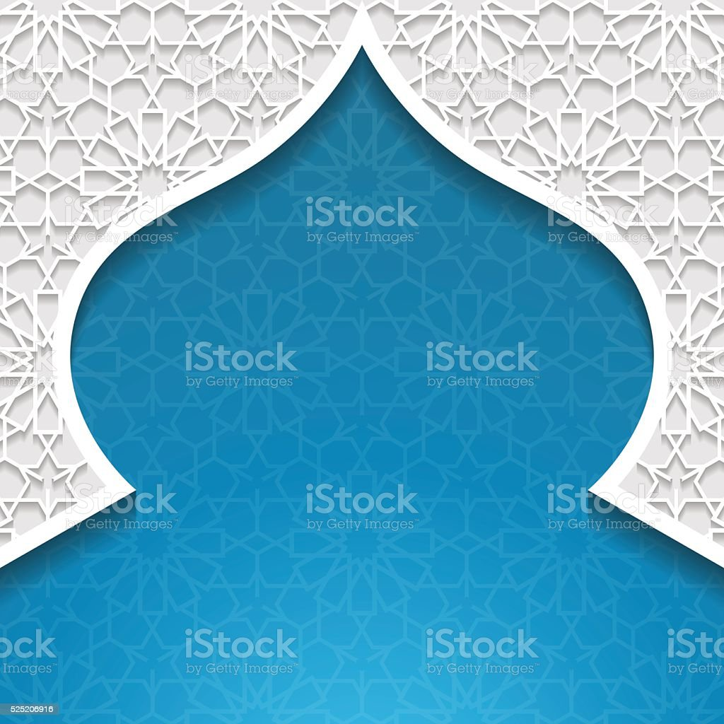 Abstract background with traditional ornament vector art illustration