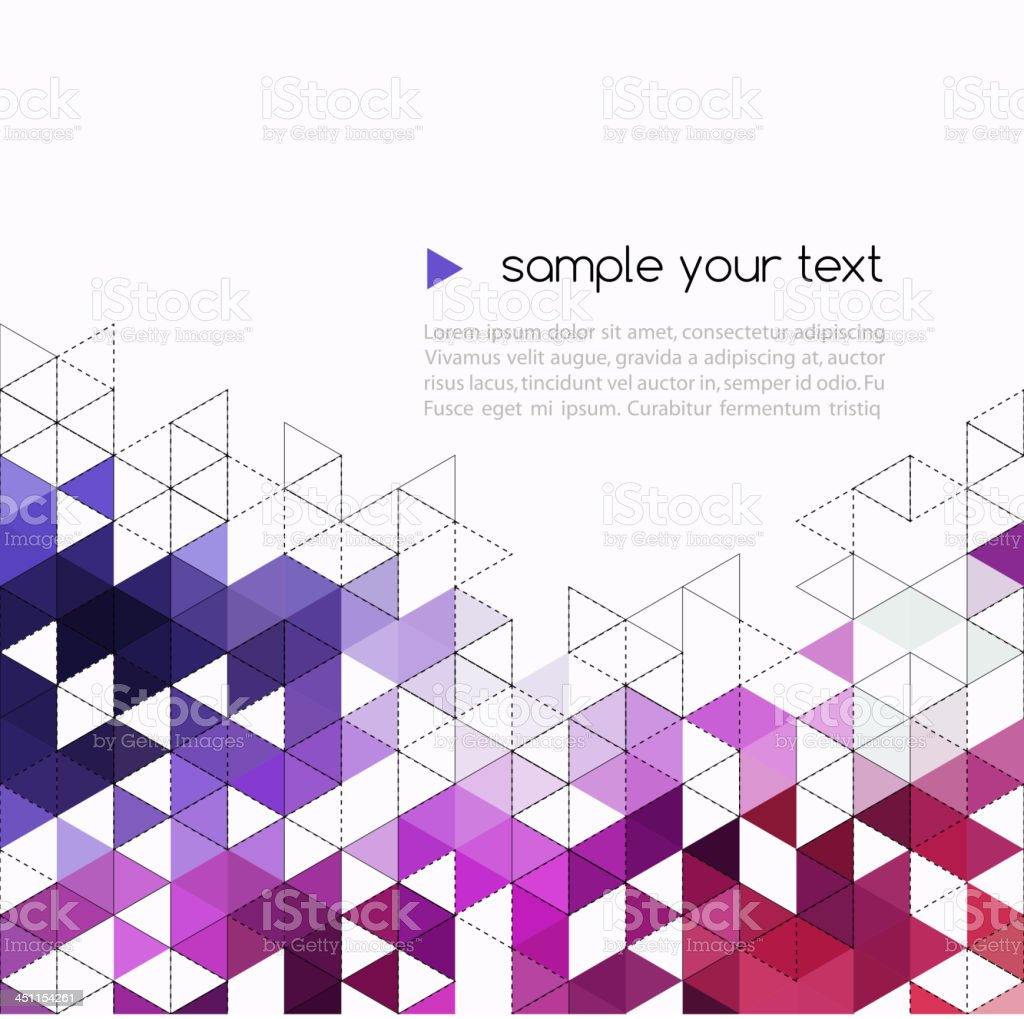Abstract background with triangle pattern royalty-free stock vector art