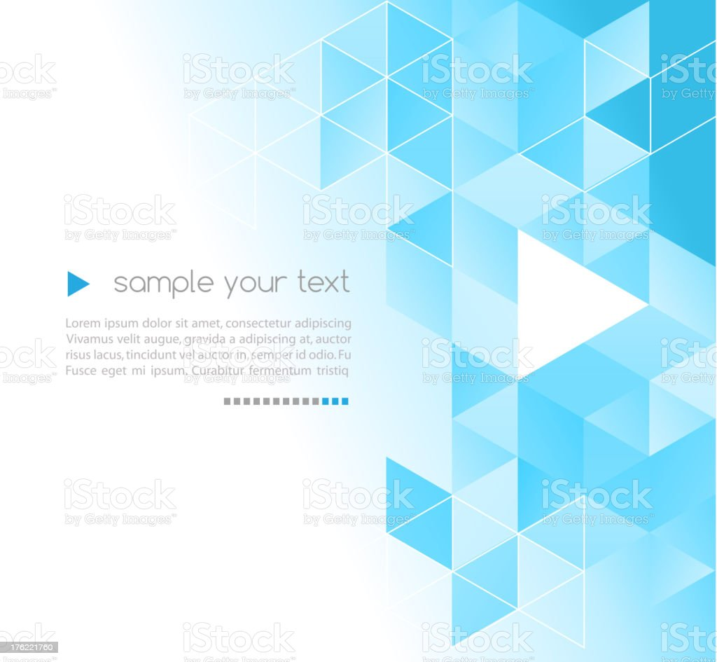 Abstract background with turquoise triangles vector art illustration