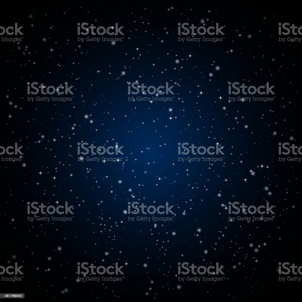 Abstract background with twinkling stars vintage. vector art illustration
