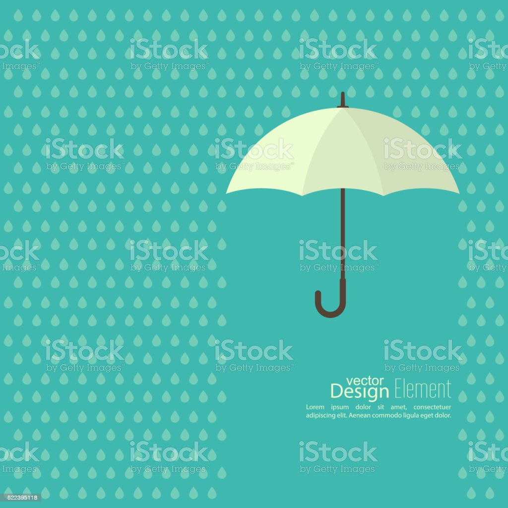 Abstract background with  umbrella vector art illustration