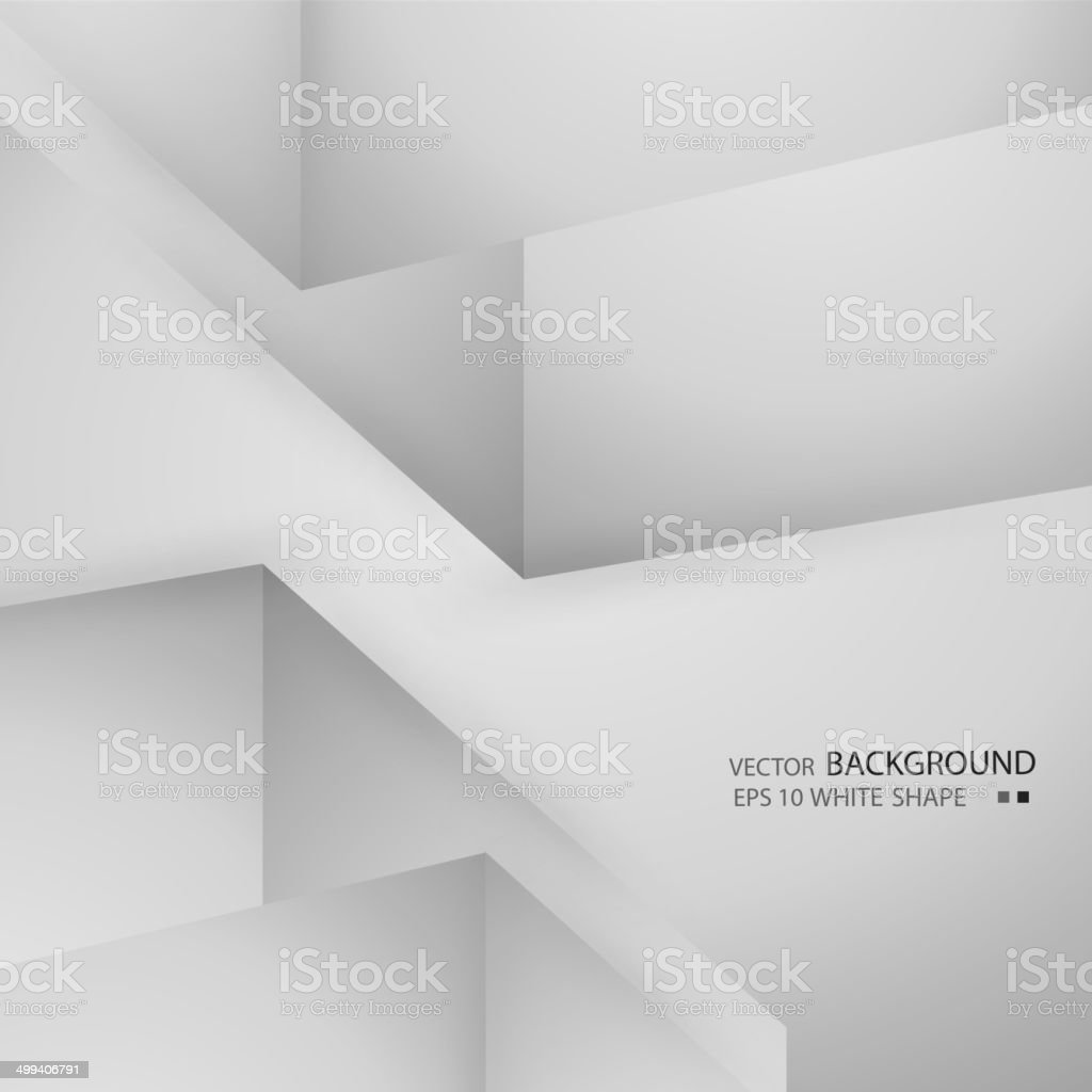 Abstract background with volumetric figures. Free blank faces vector art illustration