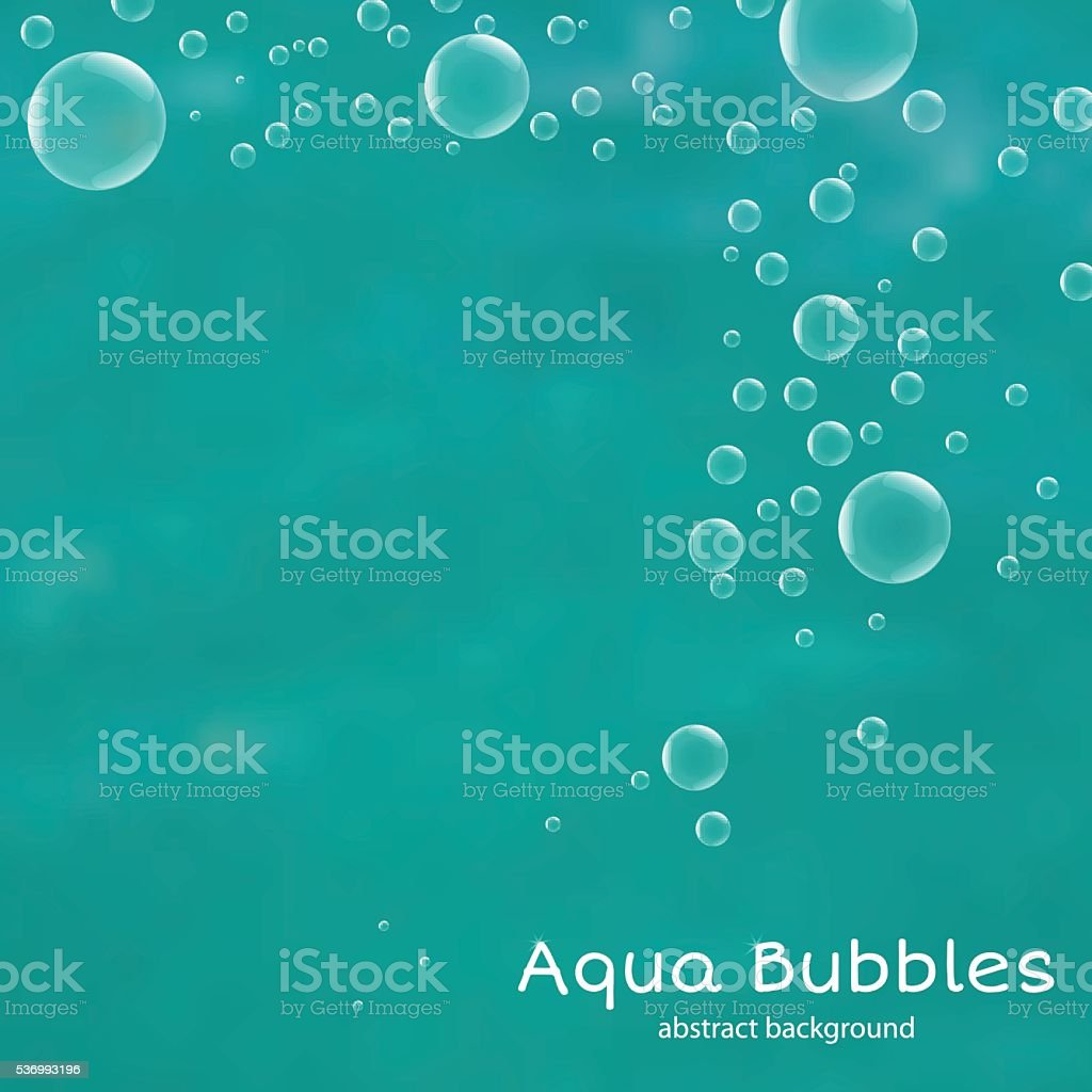 Abstract background with water bubbles. Vector illustration. vector art illustration