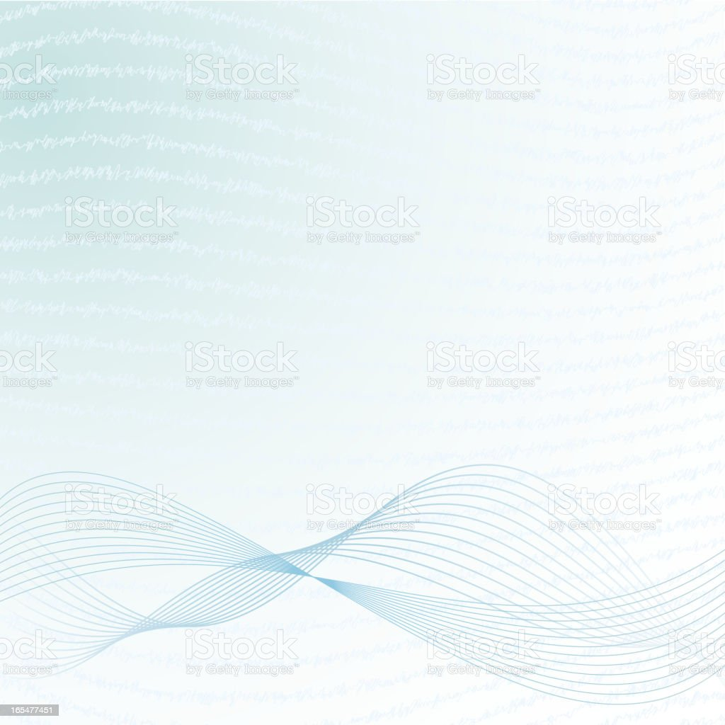 Abstract background with waves royalty-free stock vector art