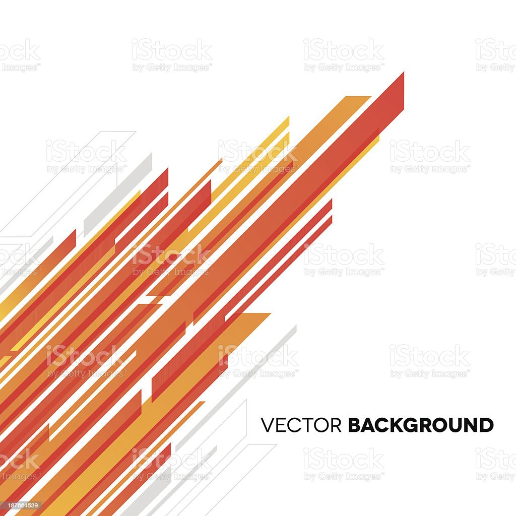 Abstract background with white, yellow and orange rectangles vector art illustration