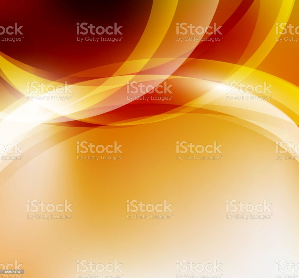 Abstract background with yellow and orange lines royalty-free stock vector art