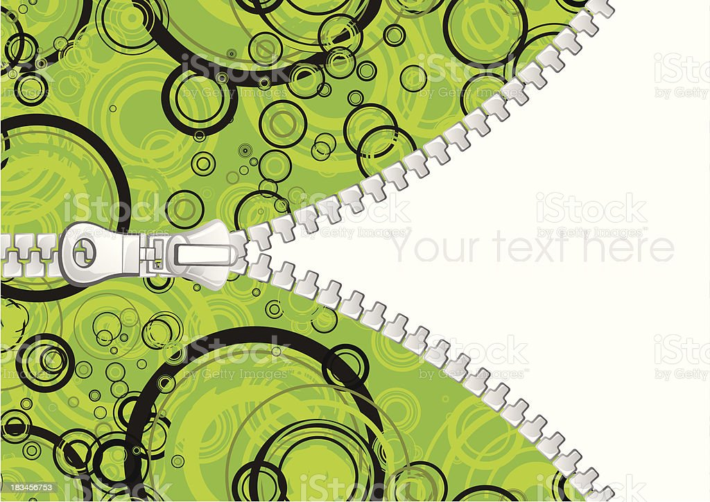Abstract background with zipper vector art illustration