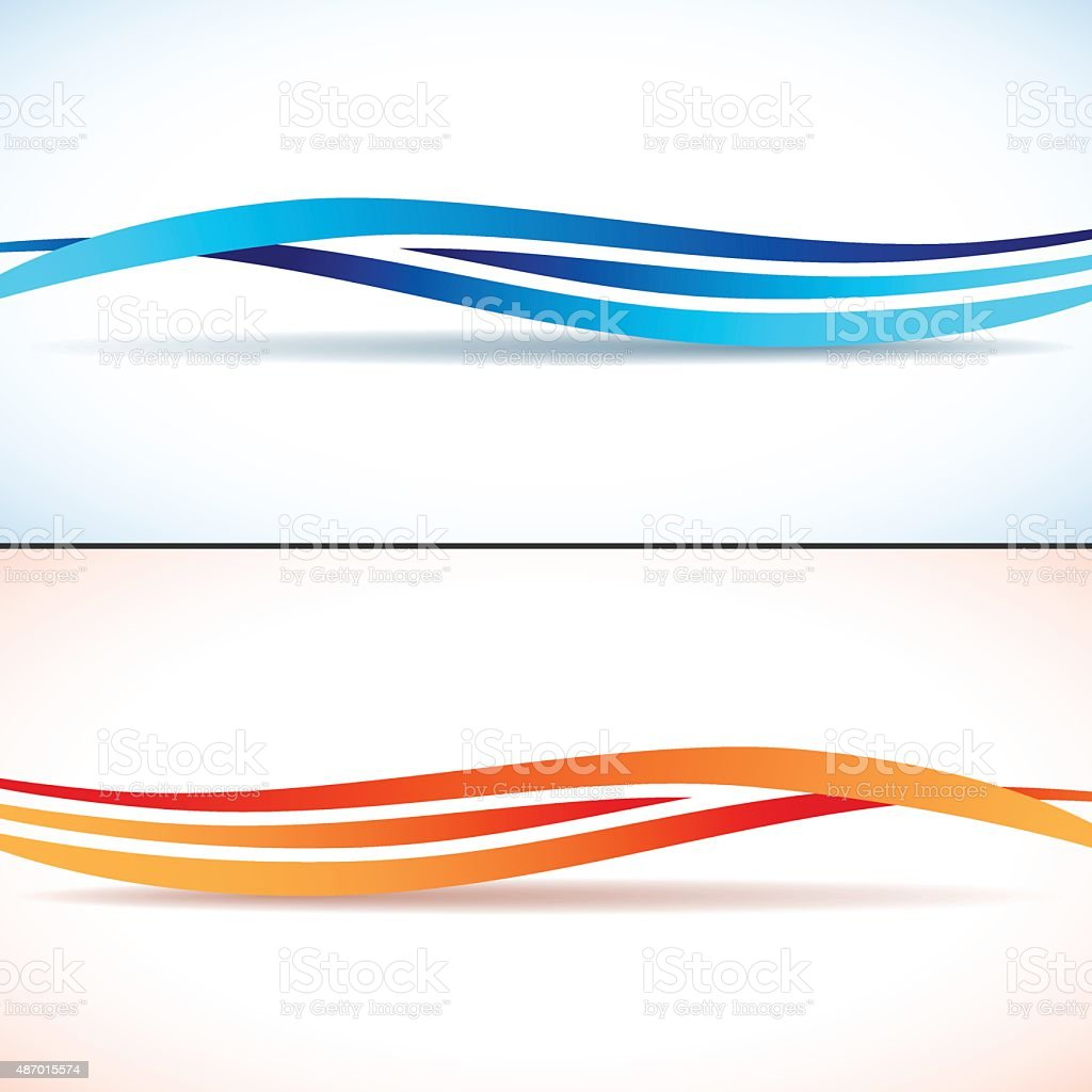 Abstract backgrounds with waves vector art illustration