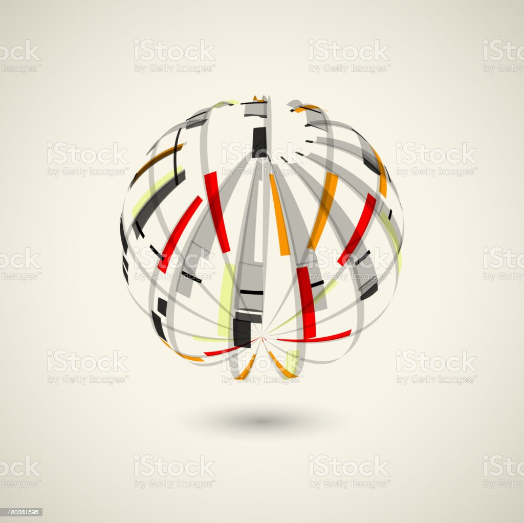 abstract ball style shape technology concept background vector art illustration