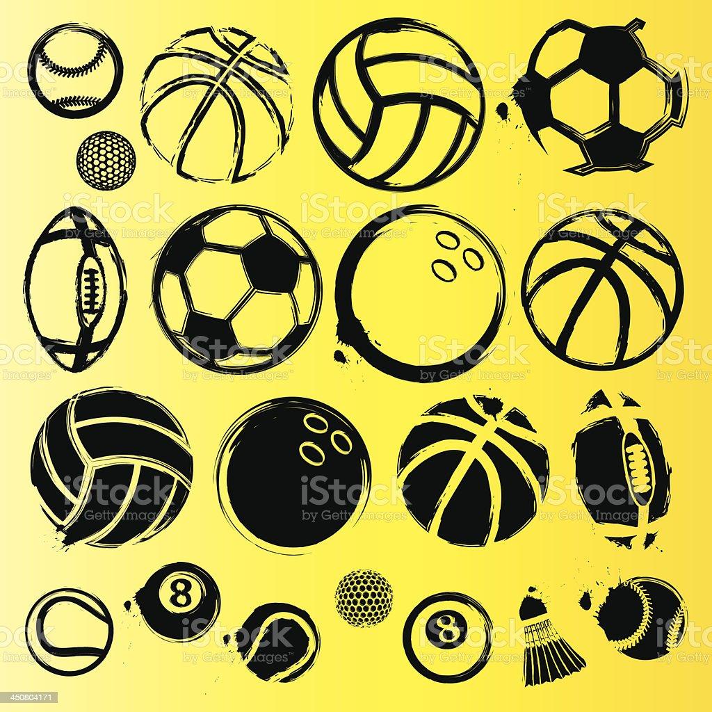 Abstract ball vector set royalty-free stock vector art
