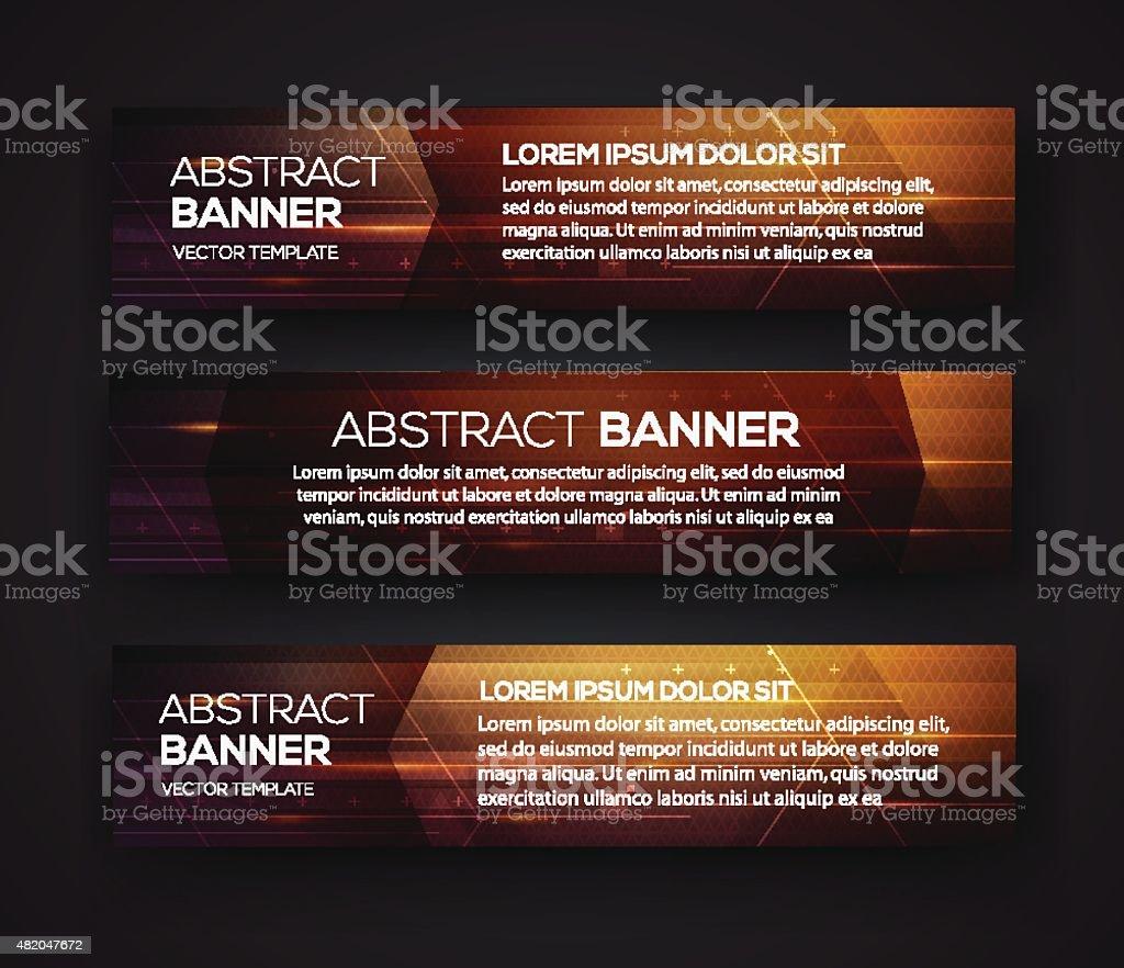 Abstract banner design vector art illustration
