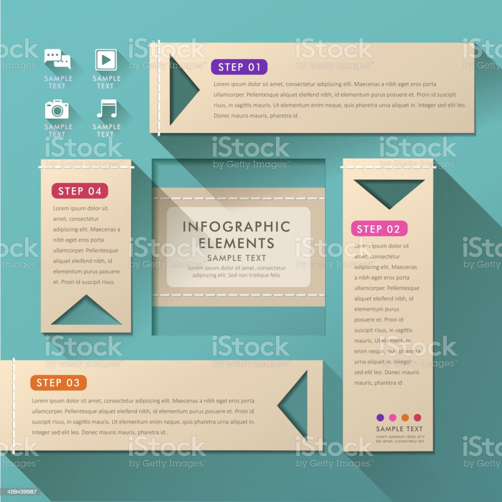 abstract banner infographics royalty-free stock vector art
