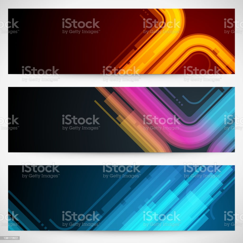 Abstract banner or header set royalty-free stock vector art