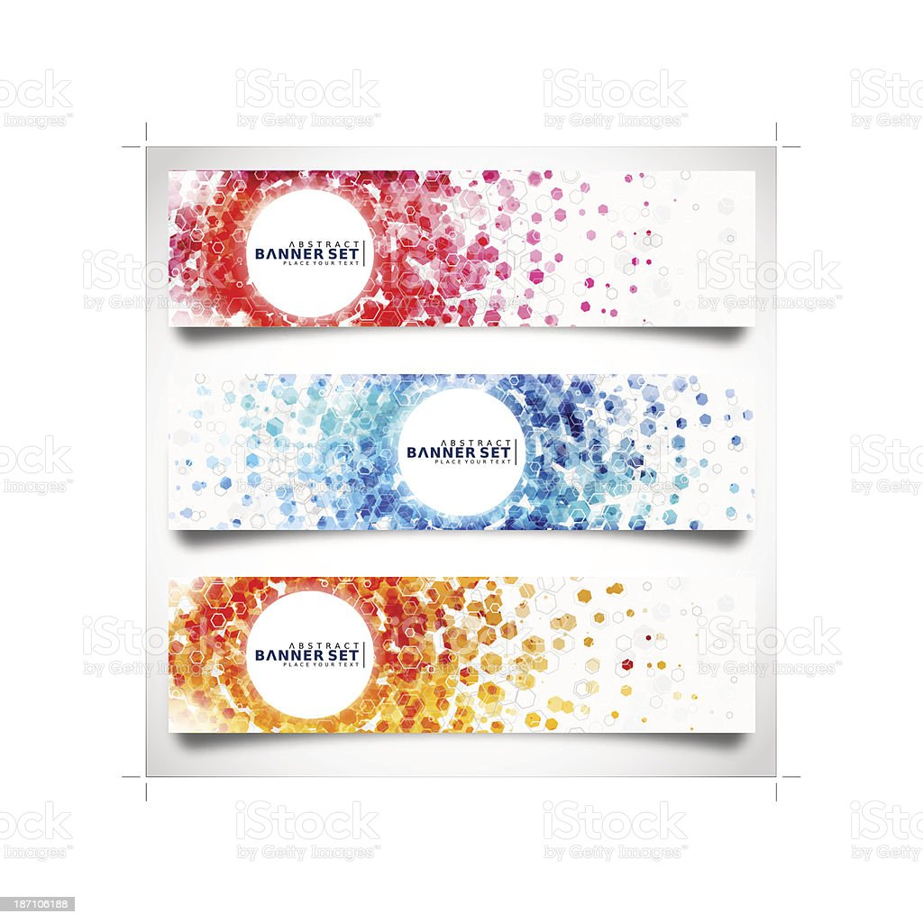 Abstract Banner set vector art illustration