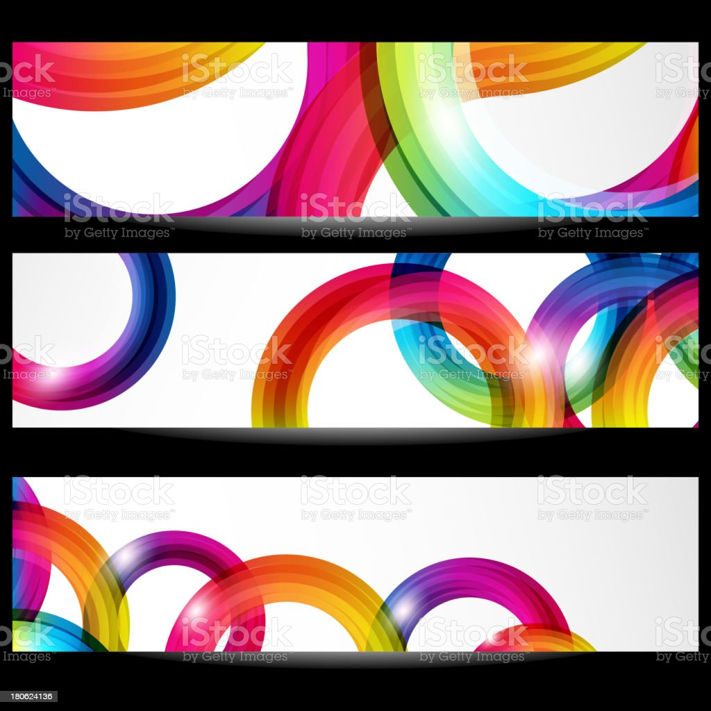 Abstract banner with forms of empty frames royalty-free stock vector art