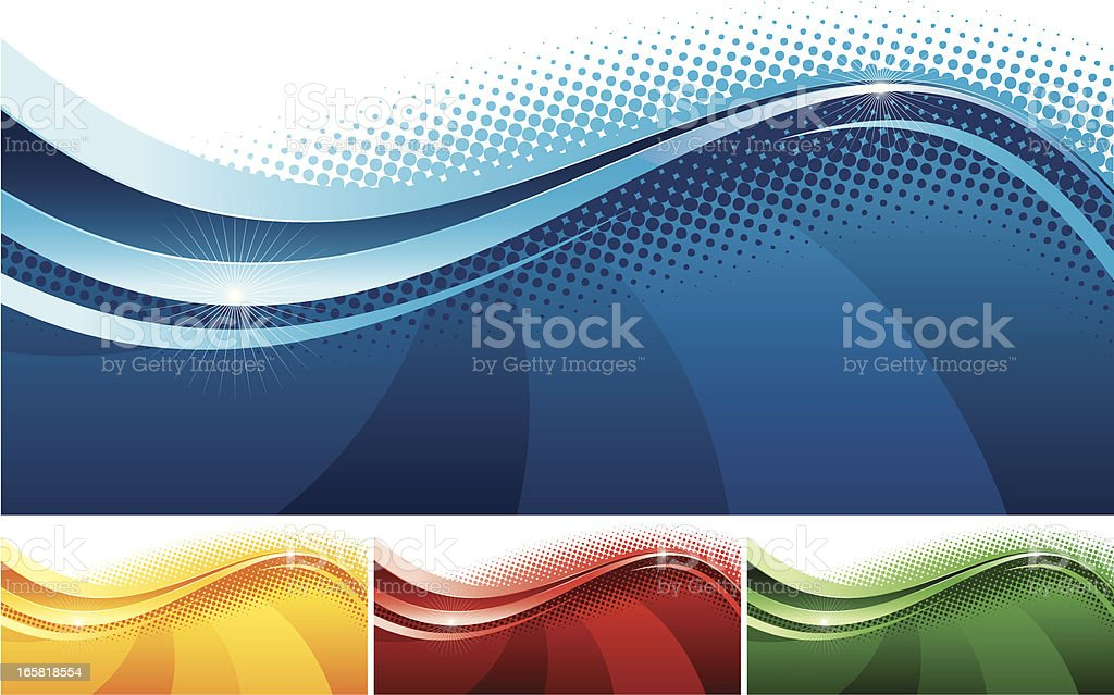 Abstract banners set one vector art illustration
