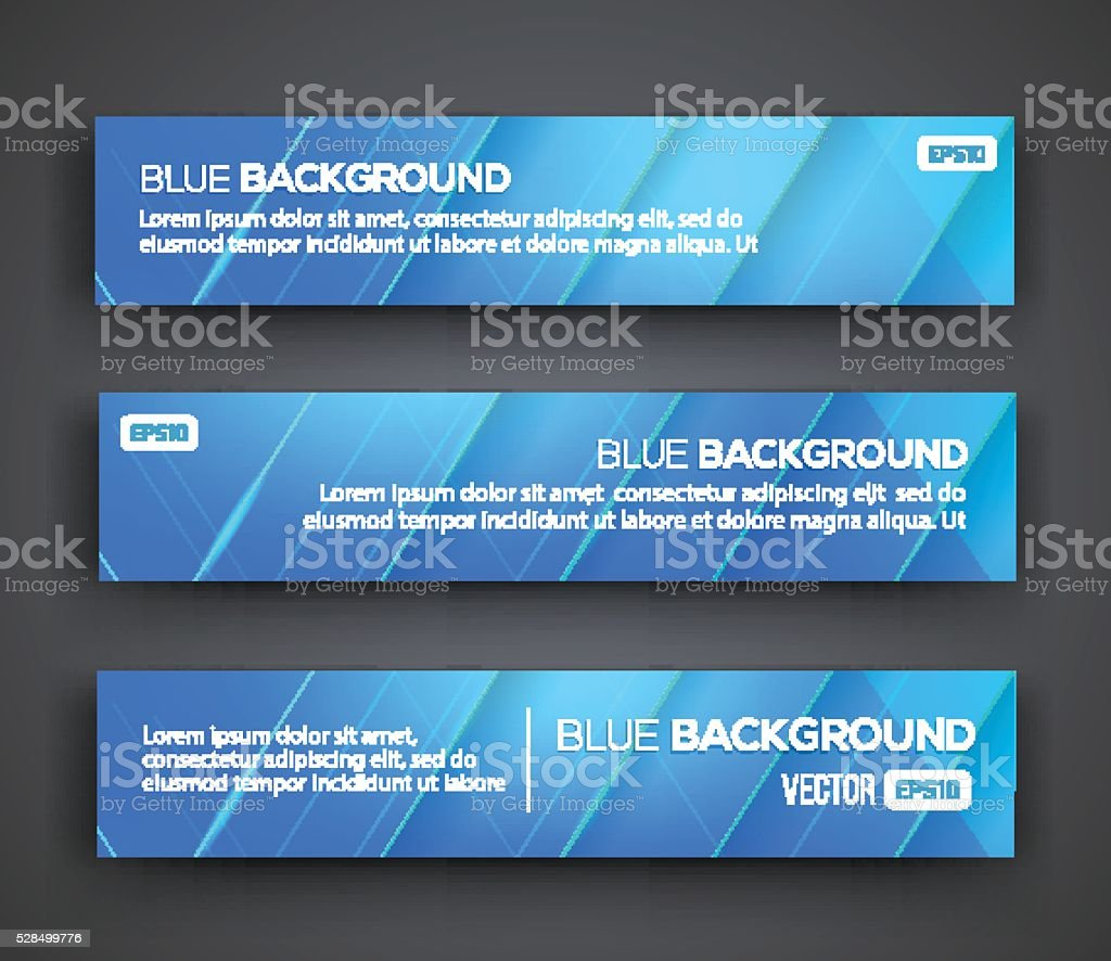 Abstract Banners. Vector Eps10 Backgrounds vector art illustration