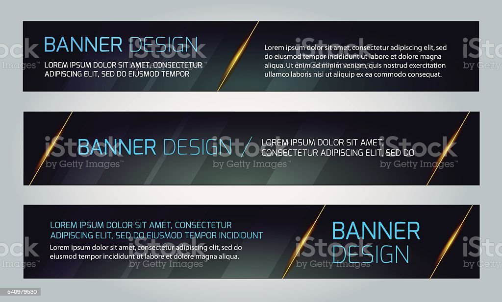 Abstract Banners. Vector Eps10 Backgrounds. vector art illustration