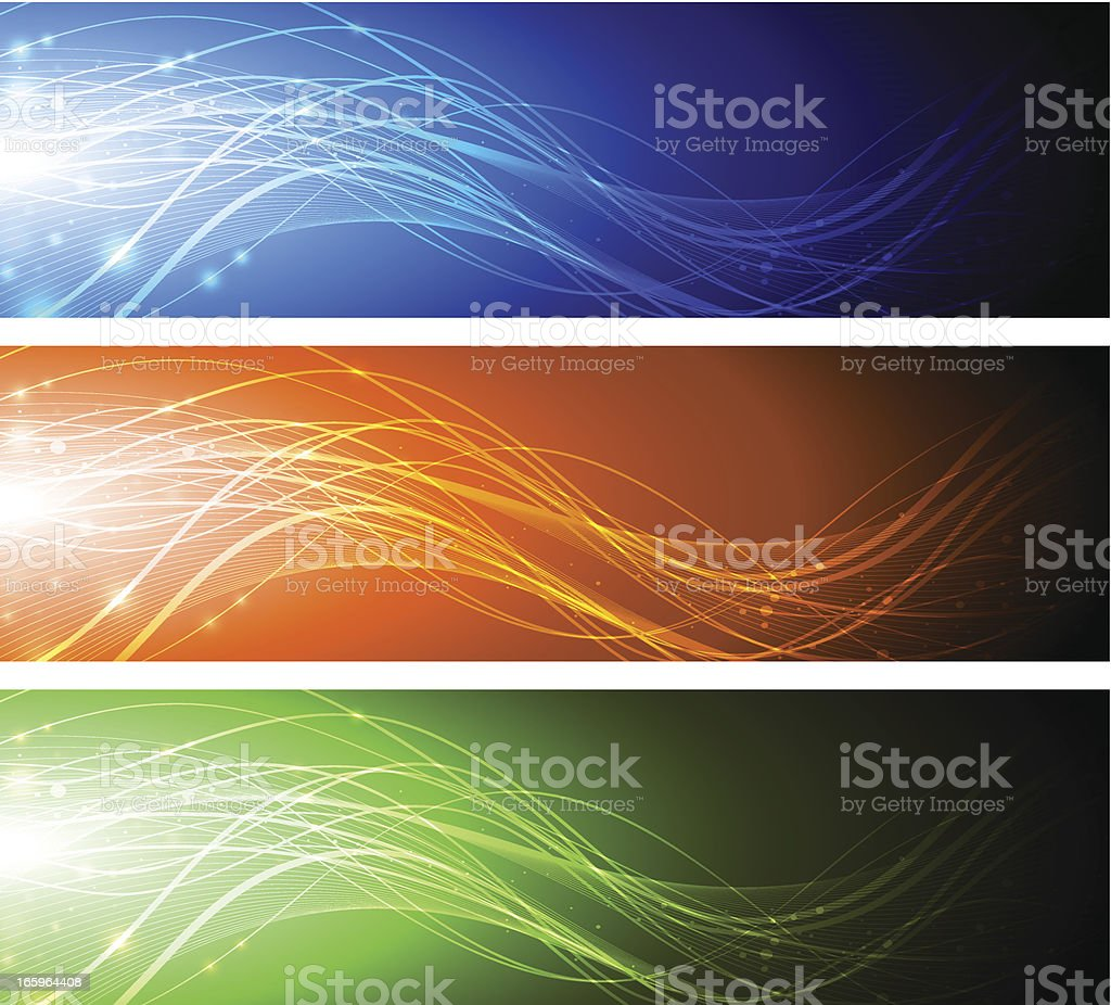 Abstract banners. royalty-free stock vector art
