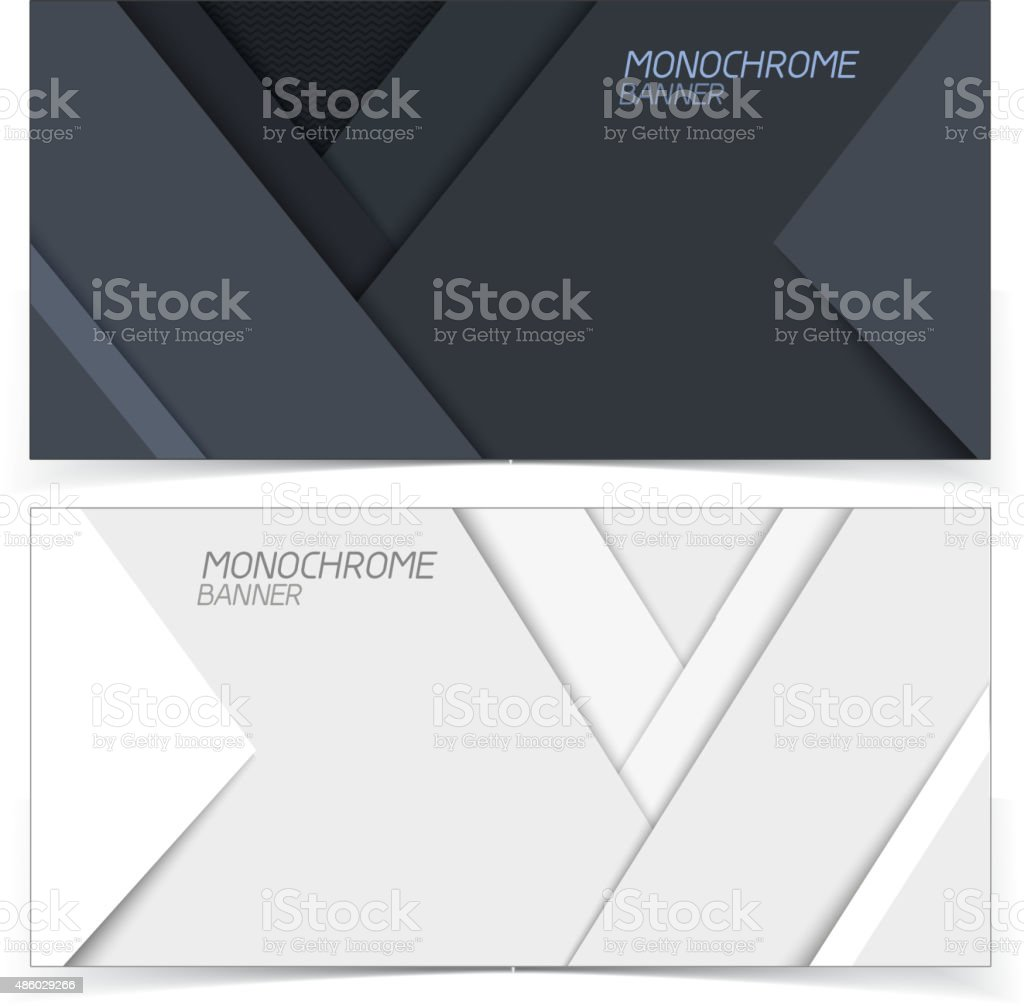 Abstract banners. vector art illustration