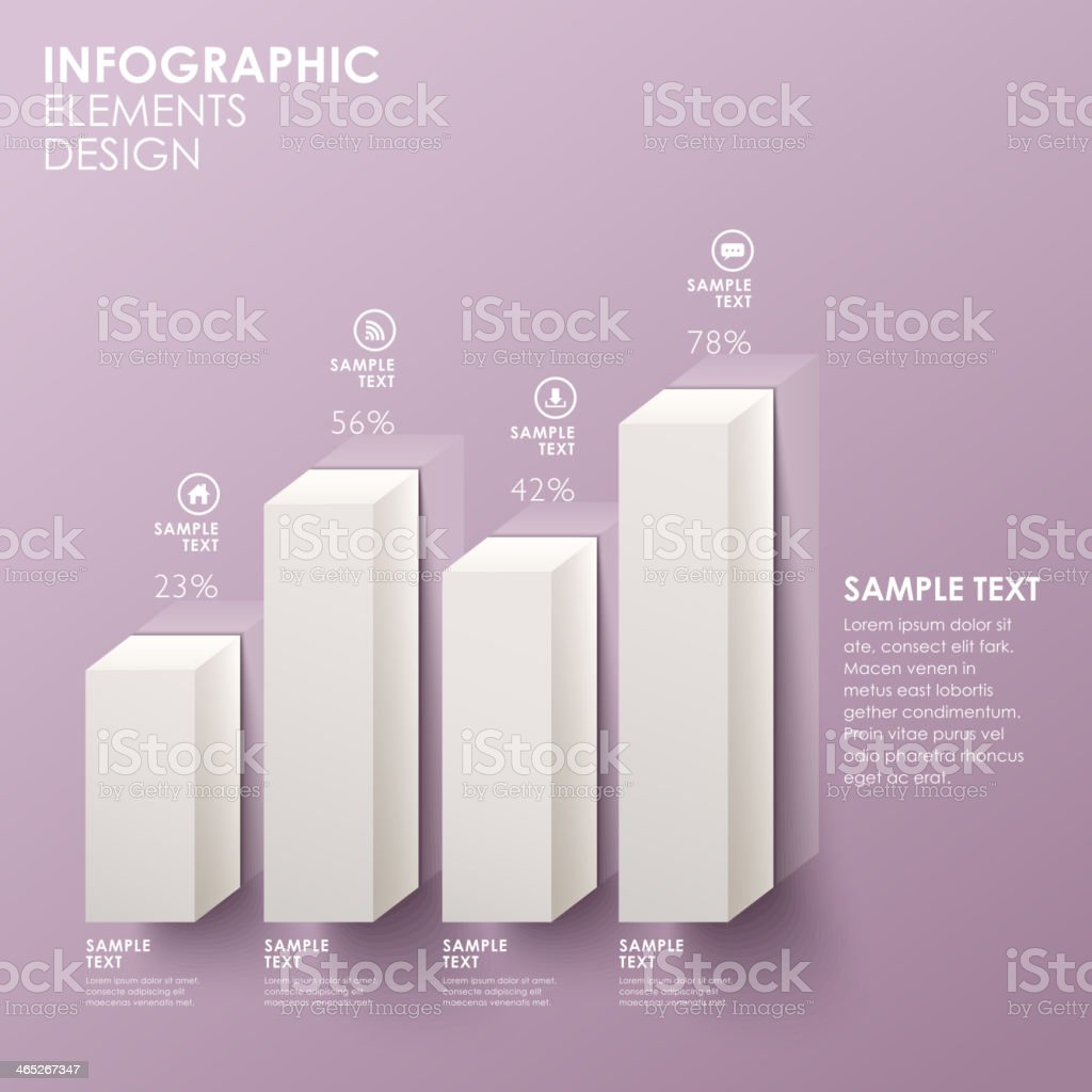abstract bar chart infographics vector art illustration