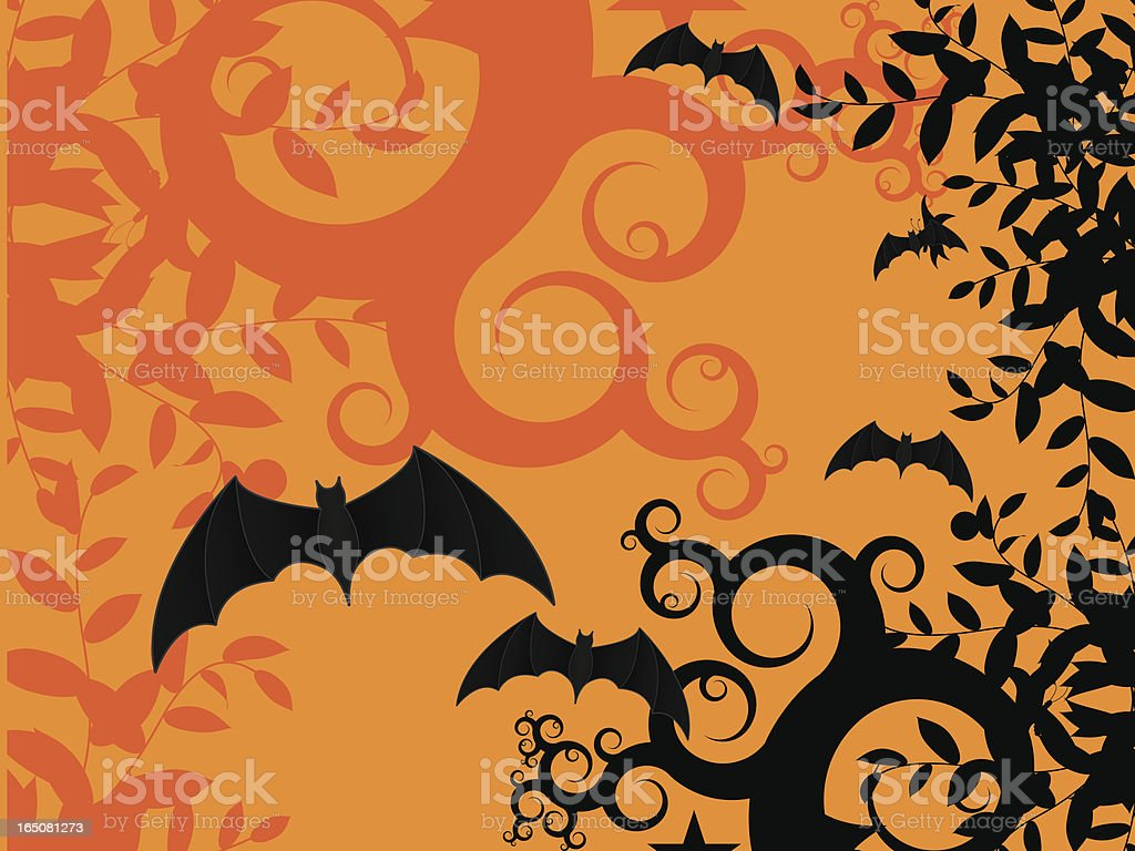 Abstract Bat Background royalty-free stock vector art