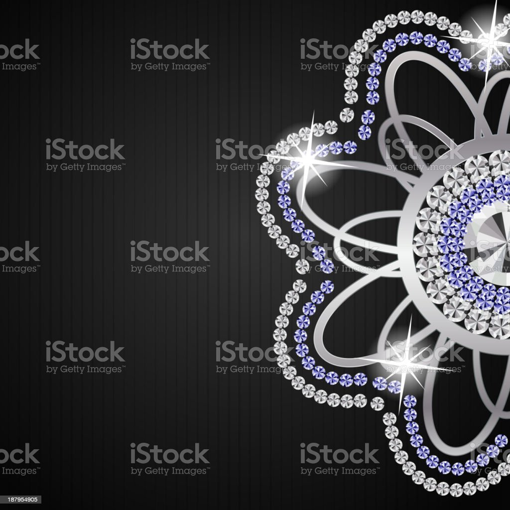 Abstract beautiful black diamond background vector illustration. royalty-free stock vector art
