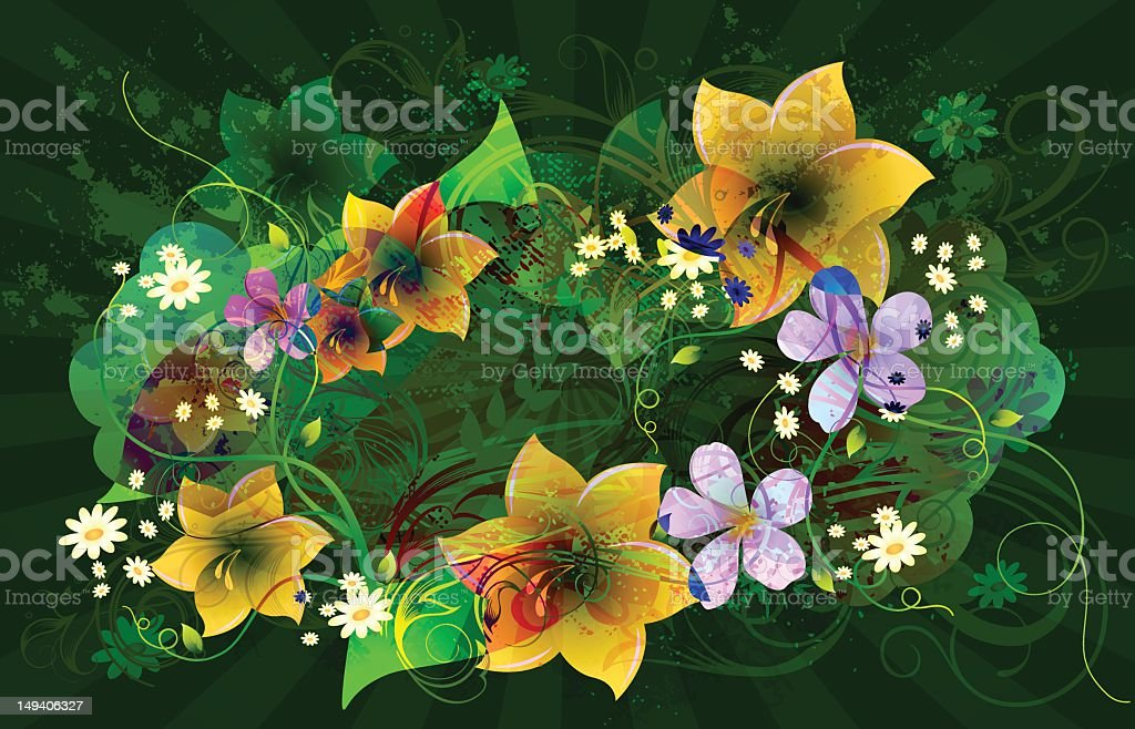 Abstract Beautiful Flower Background stock photo