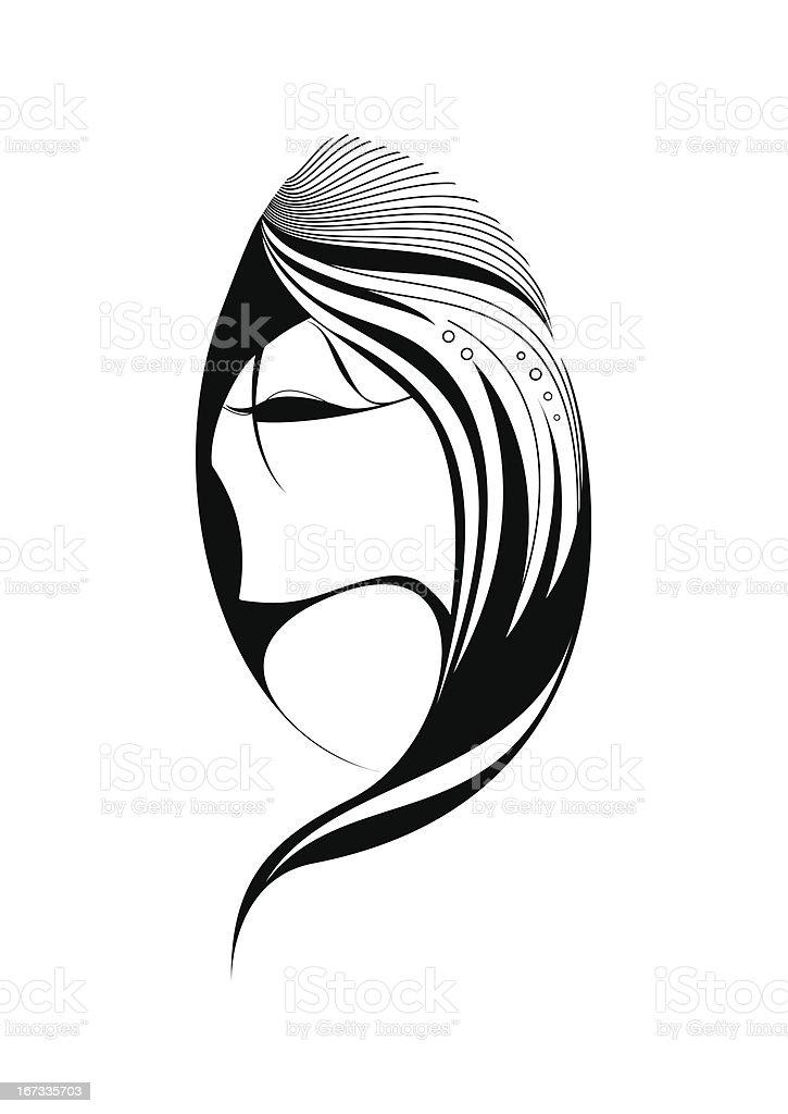 Abstract beautiful woman royalty-free stock vector art