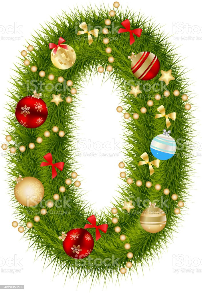 Abstract beauty Christmas and New Year abc. vector illustration royalty-free stock vector art
