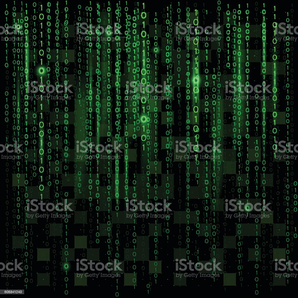 Abstract binary background vector art illustration