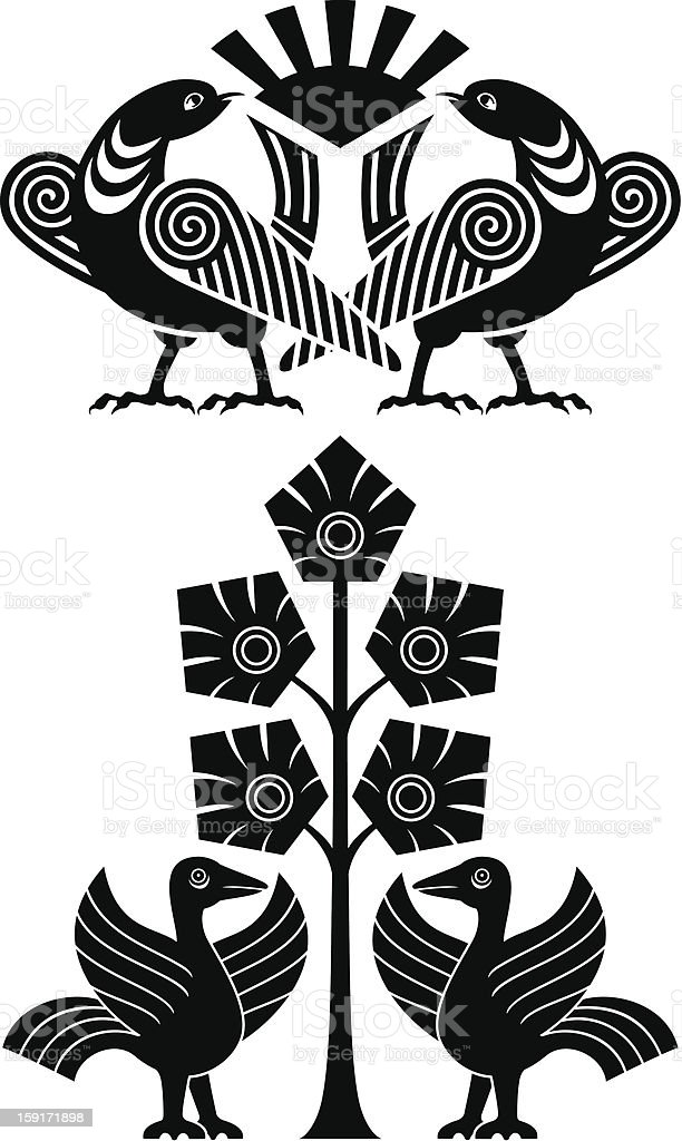 abstract bird royalty-free stock vector art