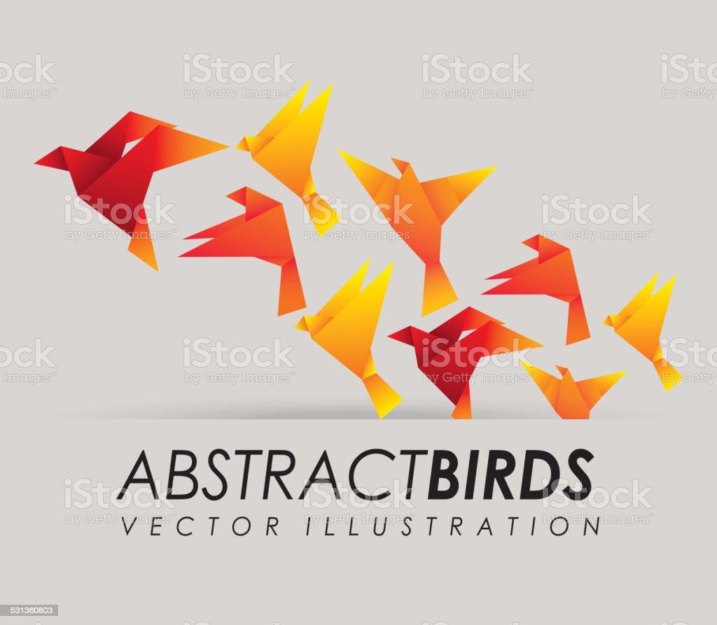 abstract bird vector art illustration