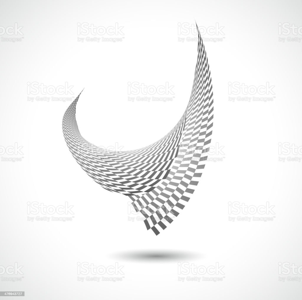 abstract black and white bird pattern background vector art illustration