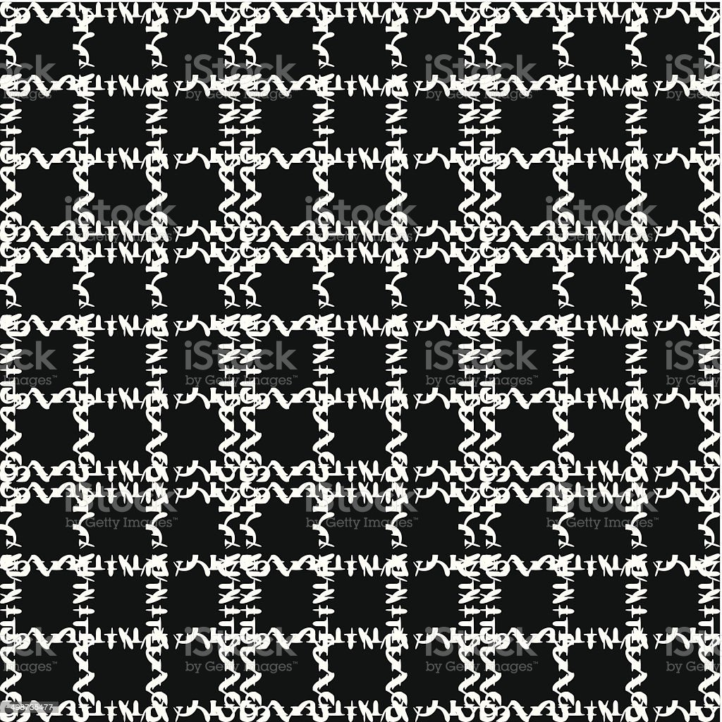 abstract black and white check pattern background vector art illustration