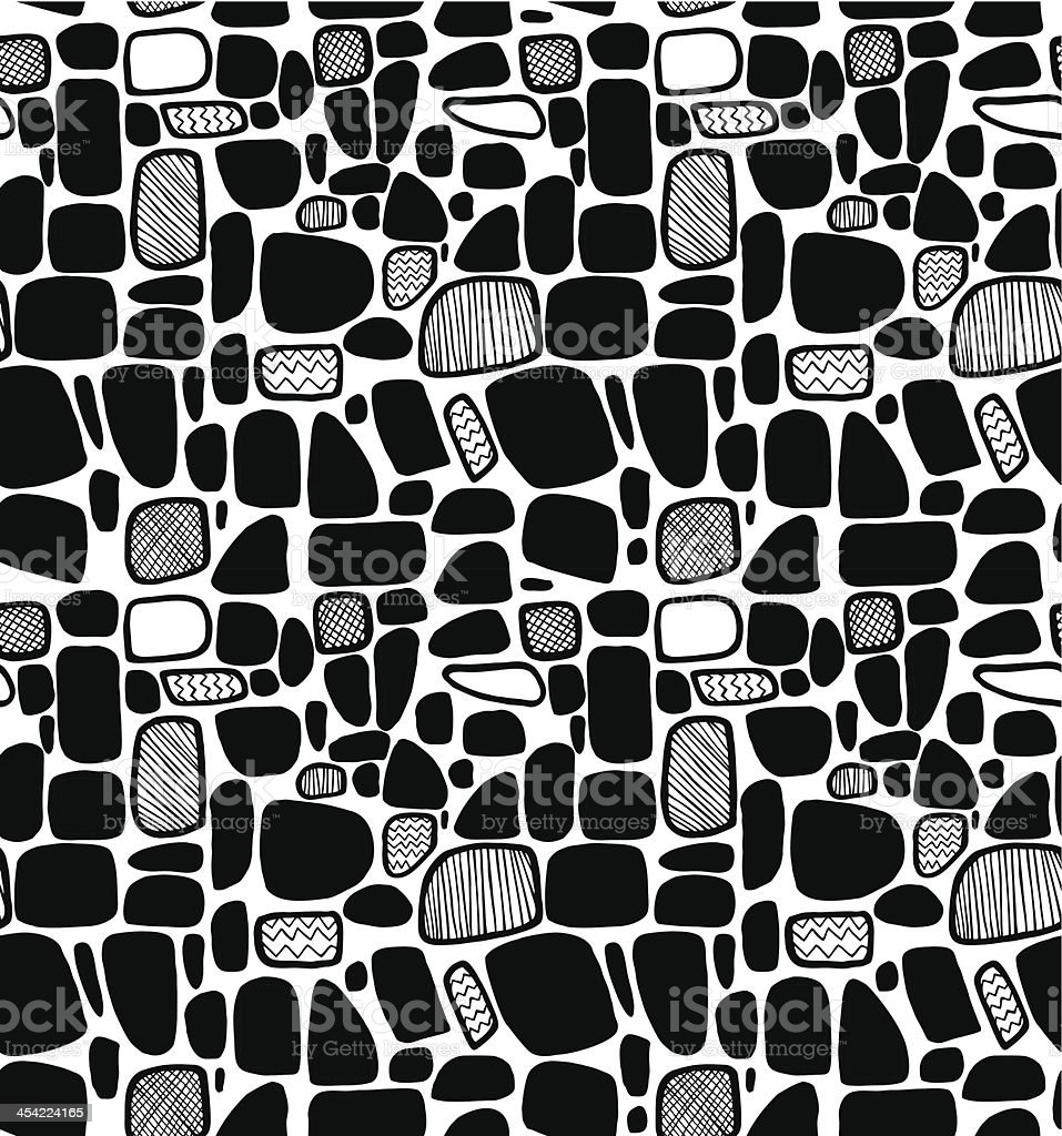 Abstract black and white geometric pattern royalty-free stock vector art