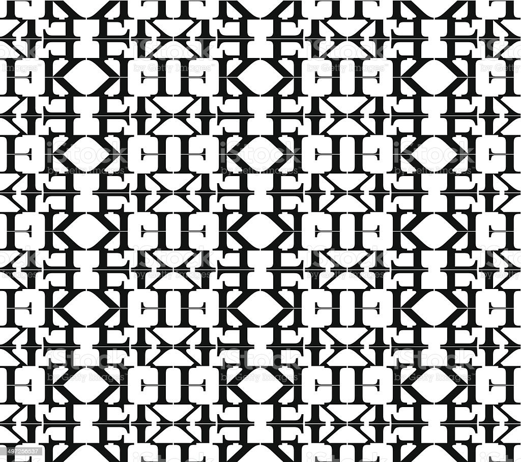 abstract black and white pattern background vector art illustration