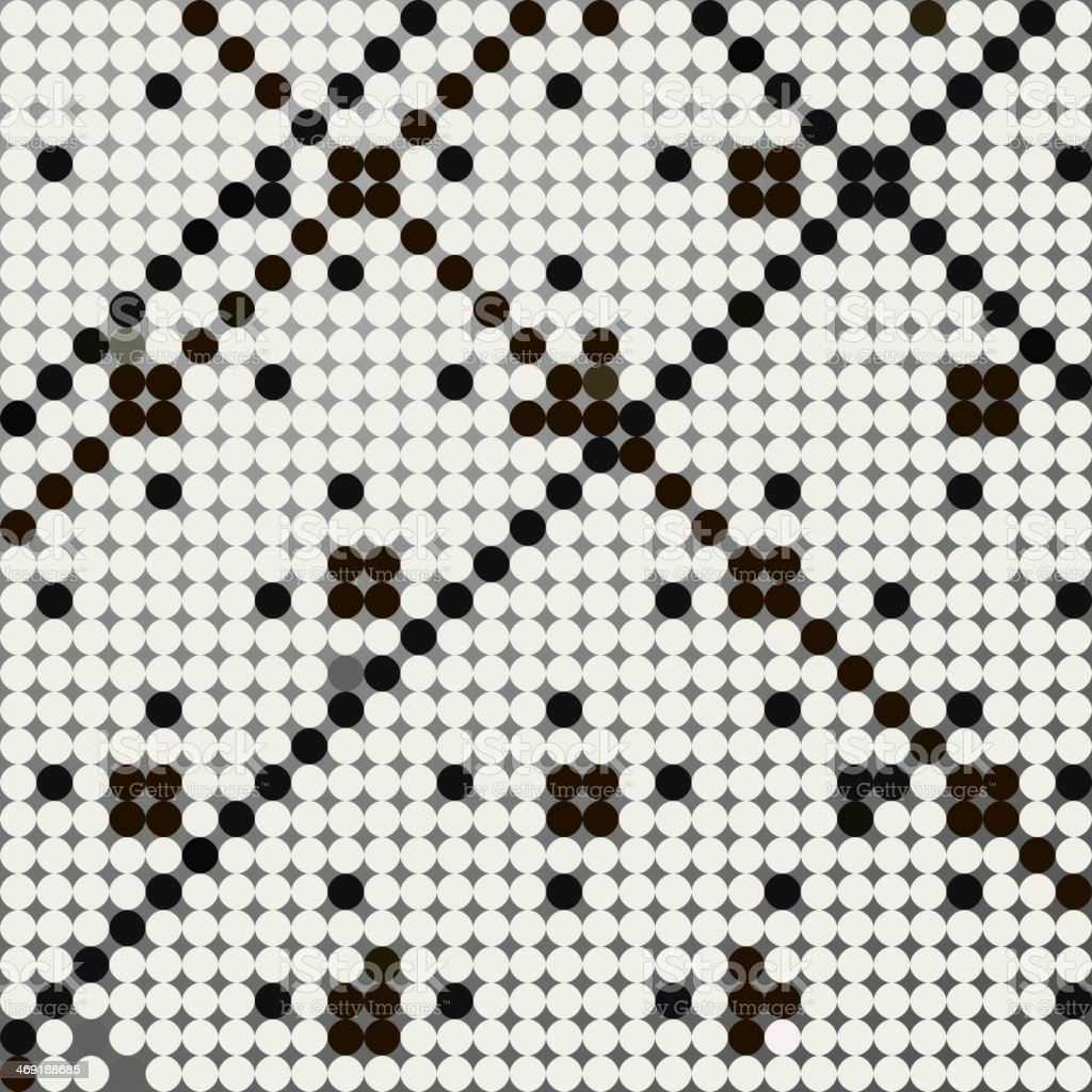 abstract black and white polka dot pattern background vector art illustration