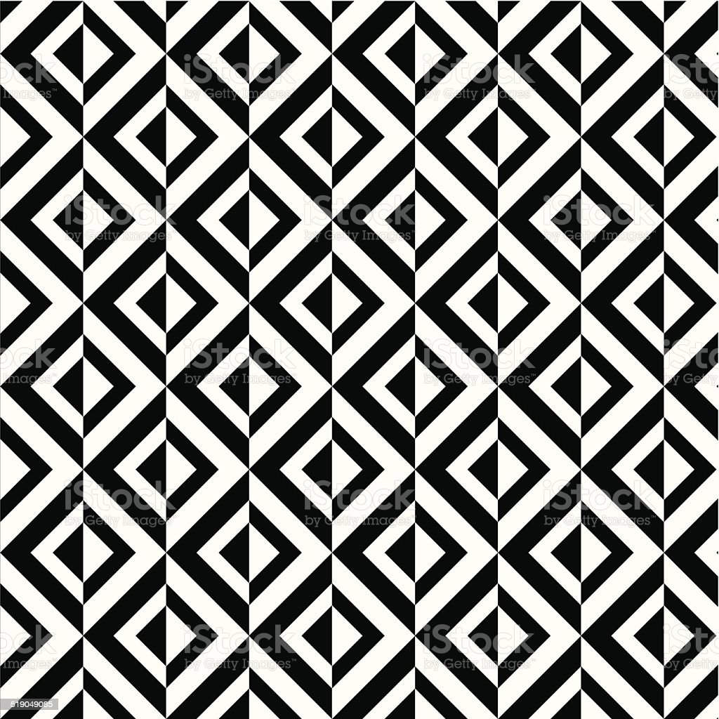abstract black and white rhombus decoration pattern background vector art illustration