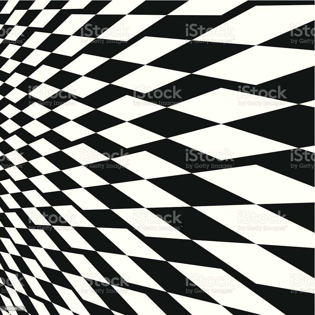 abstract black and white rhombus pattern background vector art illustration