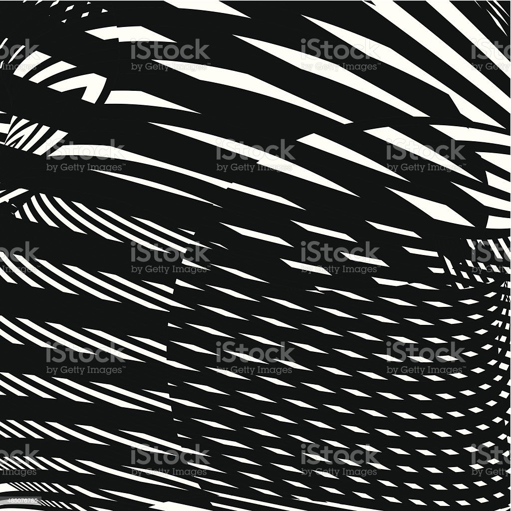 abstract black and white shape background vector art illustration