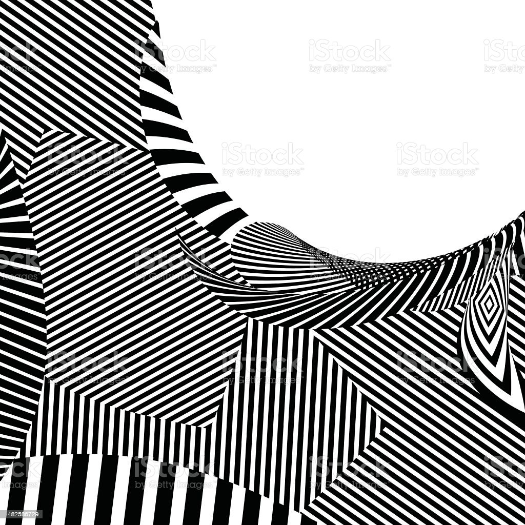 abstract black and white stripe shape background royalty-free stock vector art