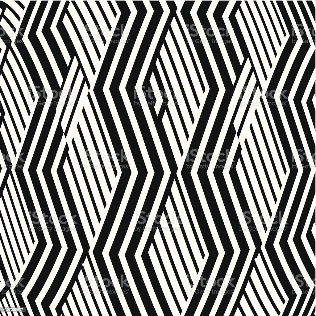 abstract black and white wave stripe pattern background vector art illustration