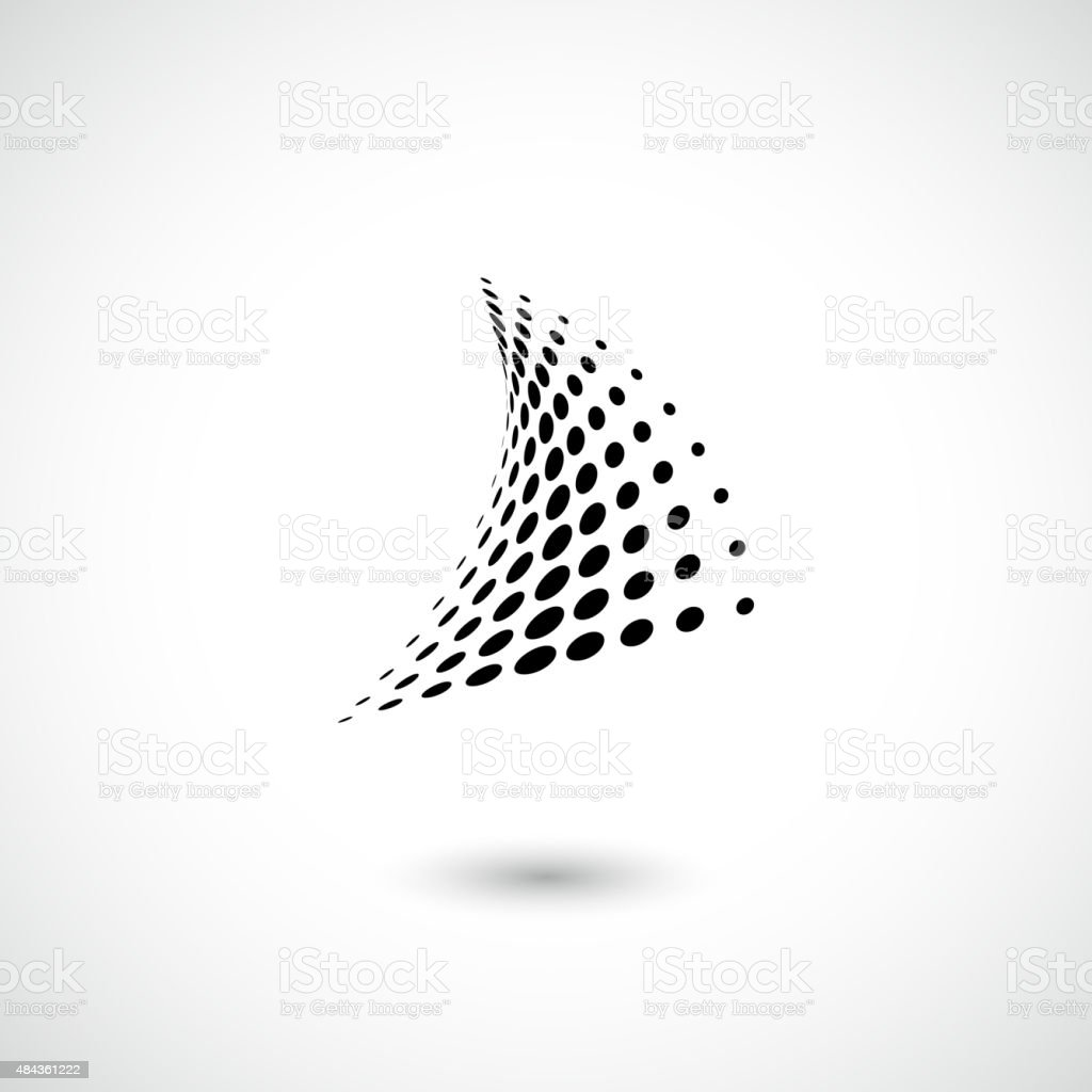 abstract black dots pattern icon for design vector art illustration